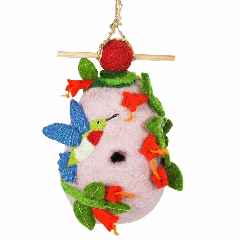 Felt Birdhouse - Hummingbird