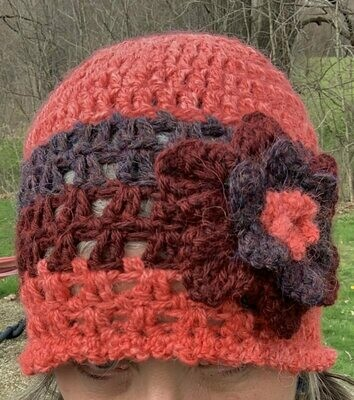Bright Alpaca Hat with Flower