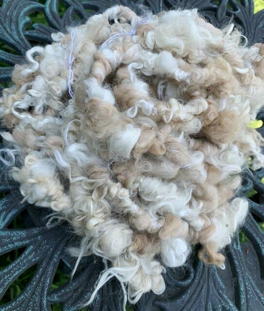 Alpaca Mohair Art Yarn - White, Beige, Tan