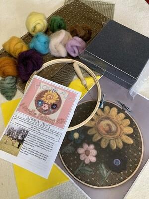Hoop Art Felting Kit - Sun and Flowers