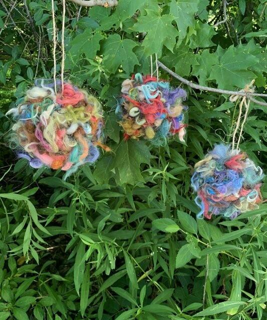 Alpaca Bird Nesting Ball in Fun Colors