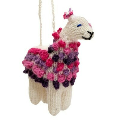Knitted Alpaca Ornaments