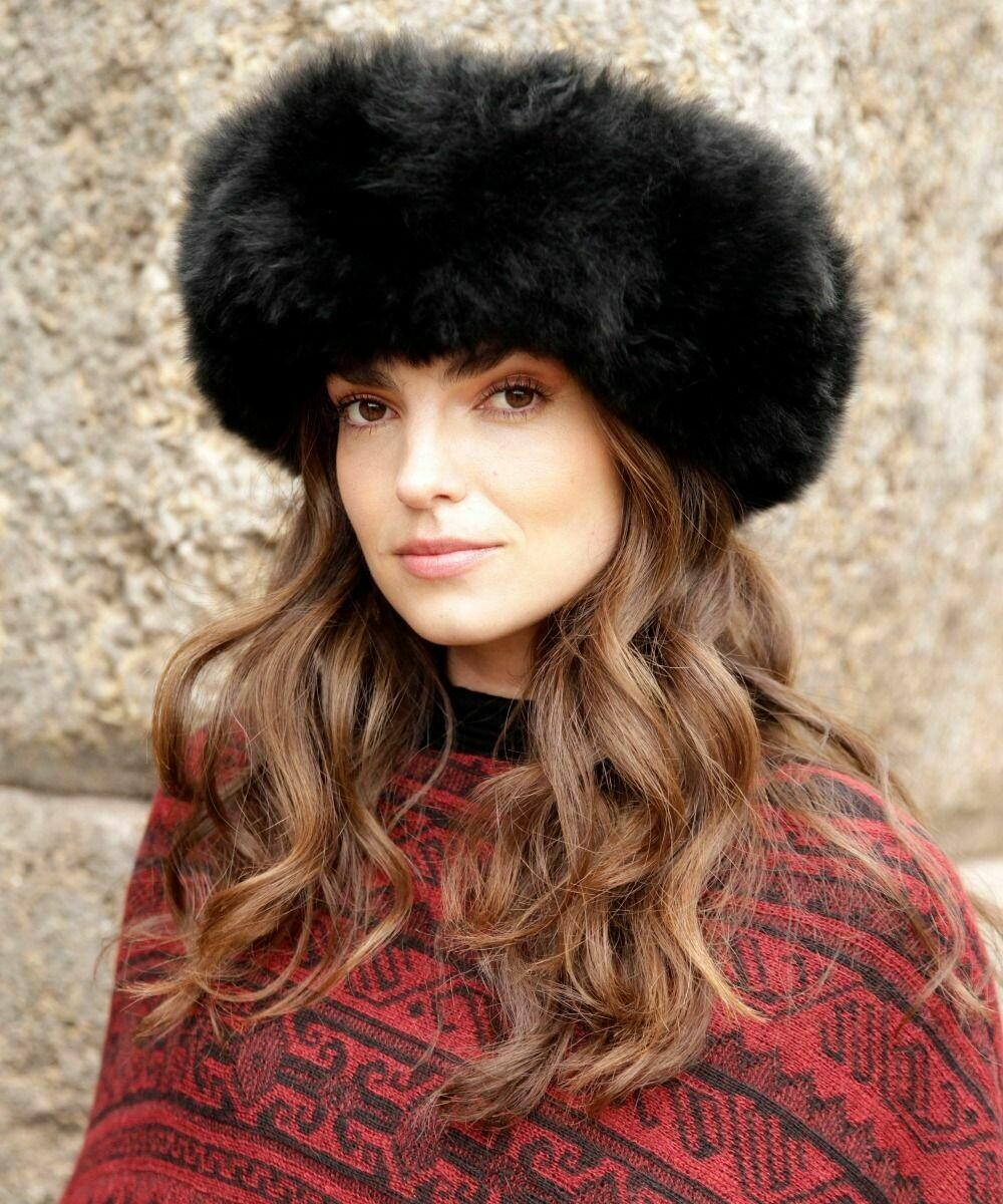 Alpaca Fur Hat - Exquisite Rich Black