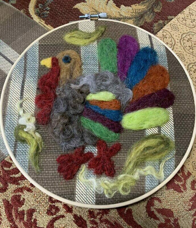 Felted Hoop Art - Turkey