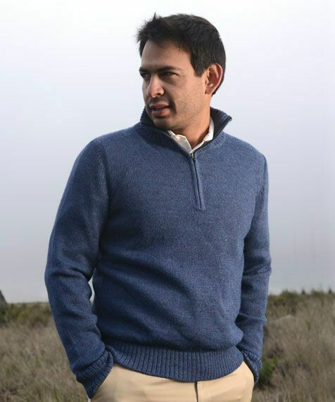 Men's Half Zip Alpaca Sweater Blend