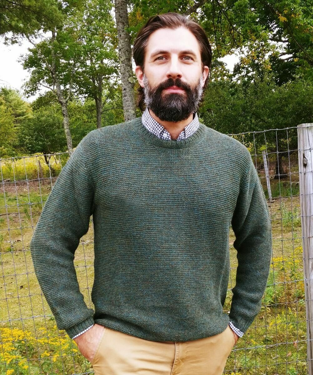 Men's Shaker Alpaca Sweater