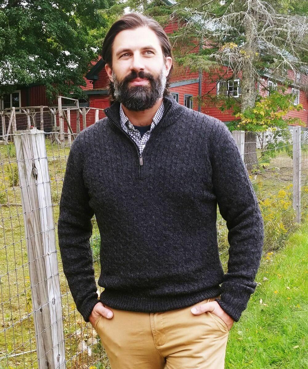 Men's Trenza Half Zip Sweater