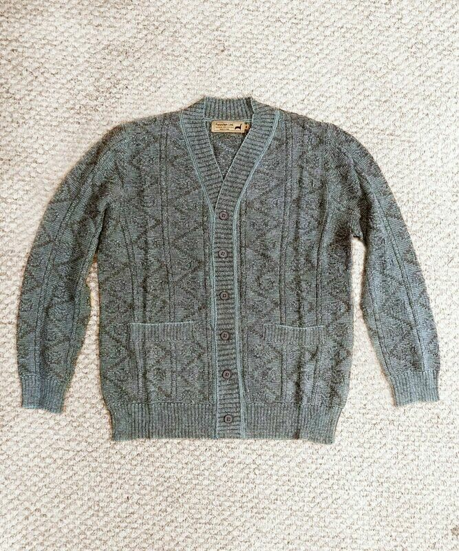 NEW Indigo Men's Alpaca Cardigan