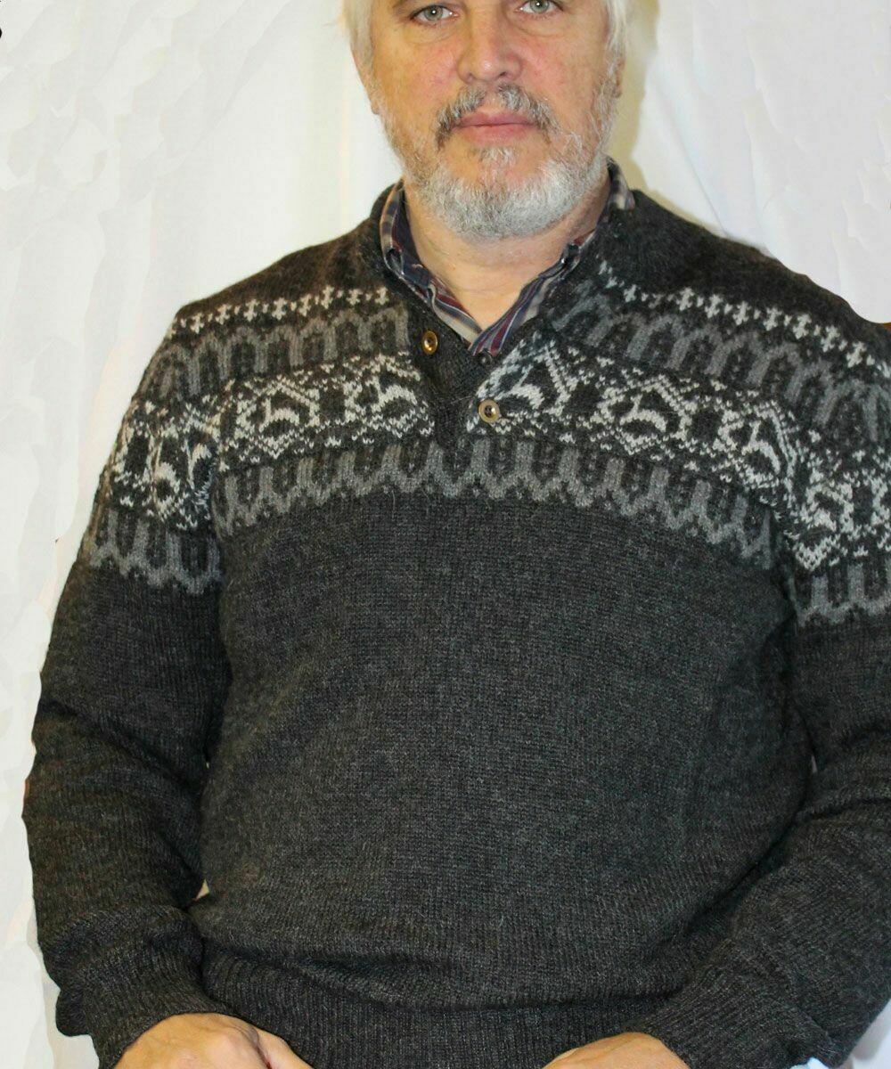 Men's Alpaca Print Sweater