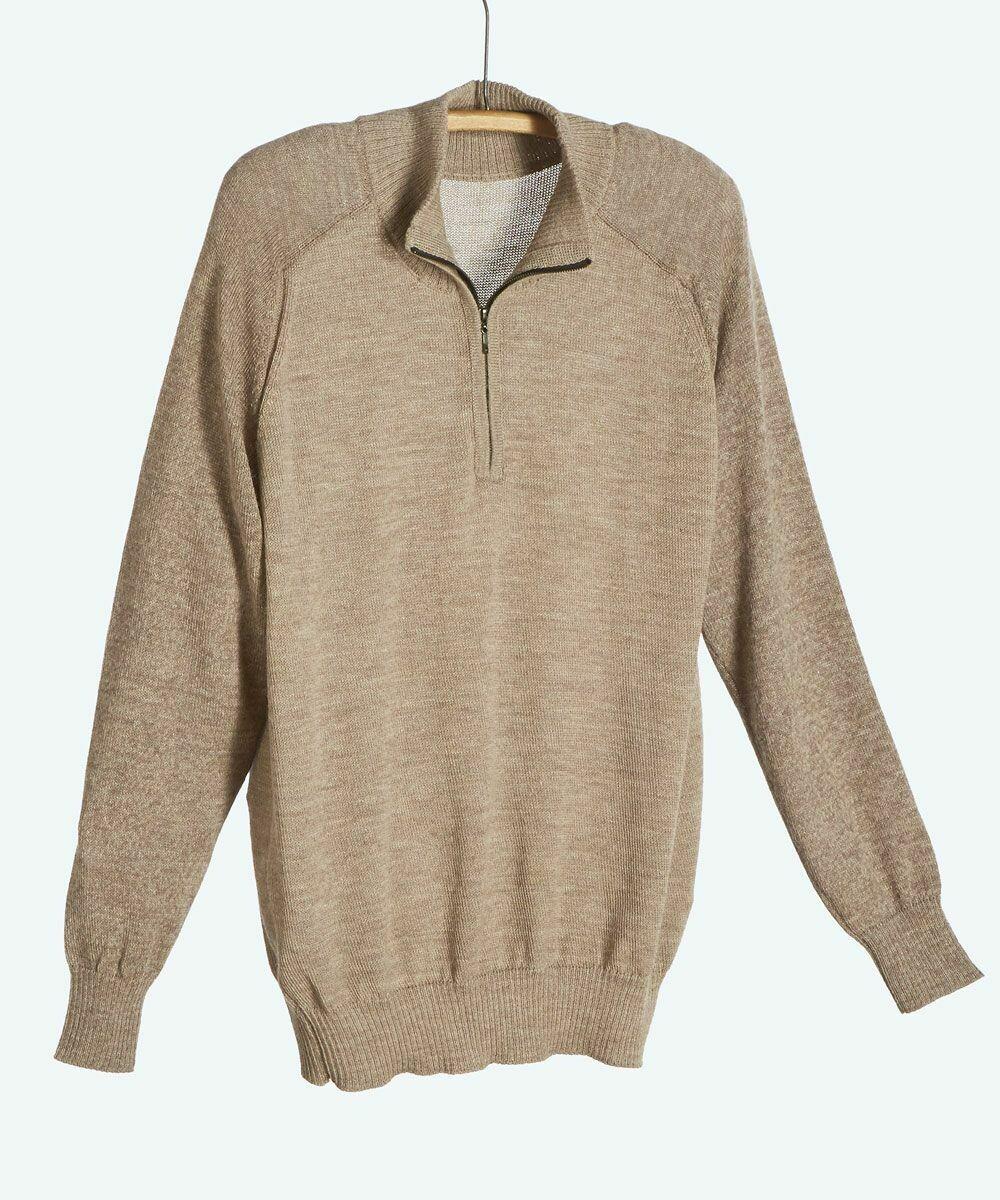 NEW Men's York 1/2 Zip Alpaca Sweater