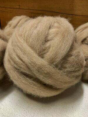 Alpaca Roving - Medium Brown