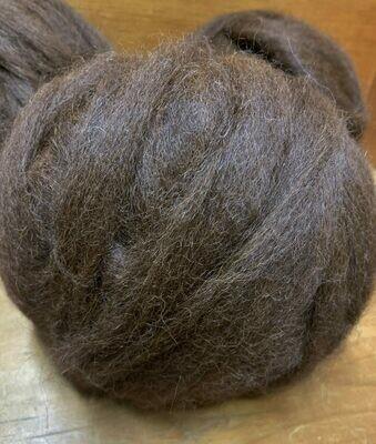 Alpaca Roving - Chocolate Brown
