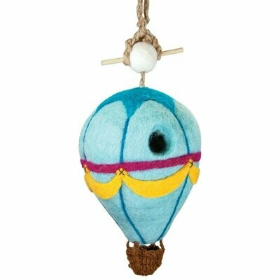 Felt Birdhouse -Hot Air Balloon