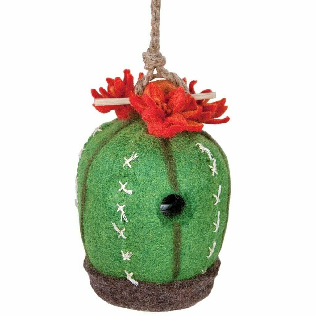 Felt Birdhouse - Cactus