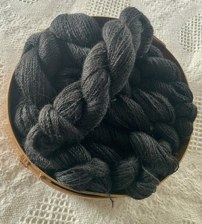 Suri Alpaca Sock Yarn - Onyx