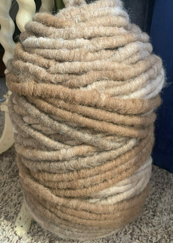 Alpaca Rug Yarn - Brown, Grey, Fawn