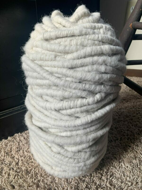 Alpaca Rug Yarn - White