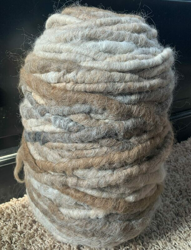 Alpaca Rug Yarn - Brown, Beige, Grey