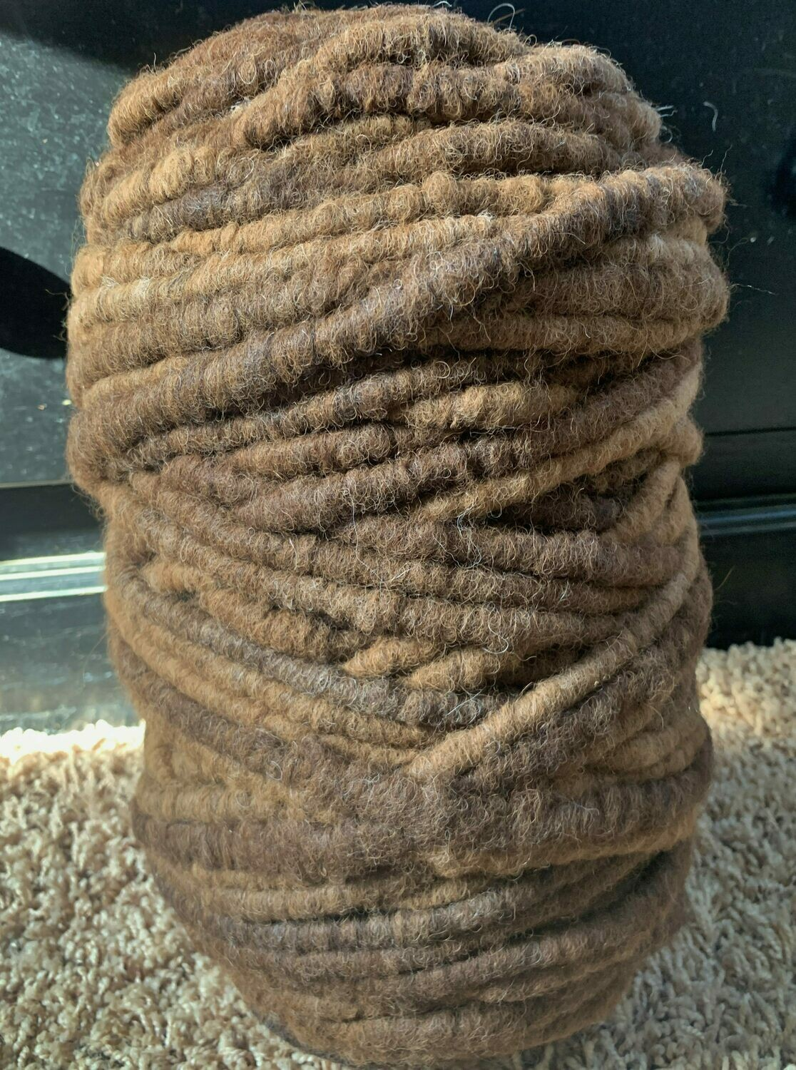 Alpaca Rug Yarn - Brown
