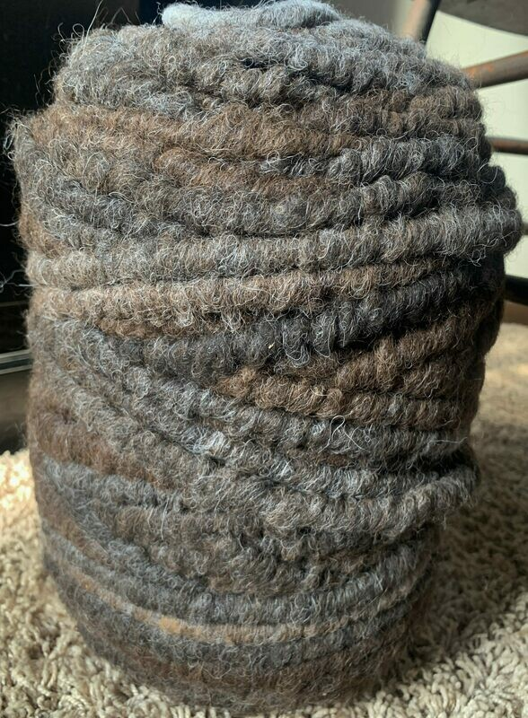 Alpaca Rug Yarn - Brown and Grey