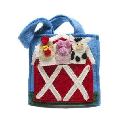 Barnyard Felt Puppet Bag