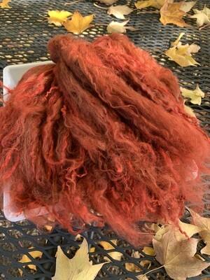 Suri Alpaca Locks, 11 Inches, Tomato
