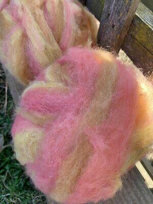 Alpaca Wool Roving - Desert Dawn