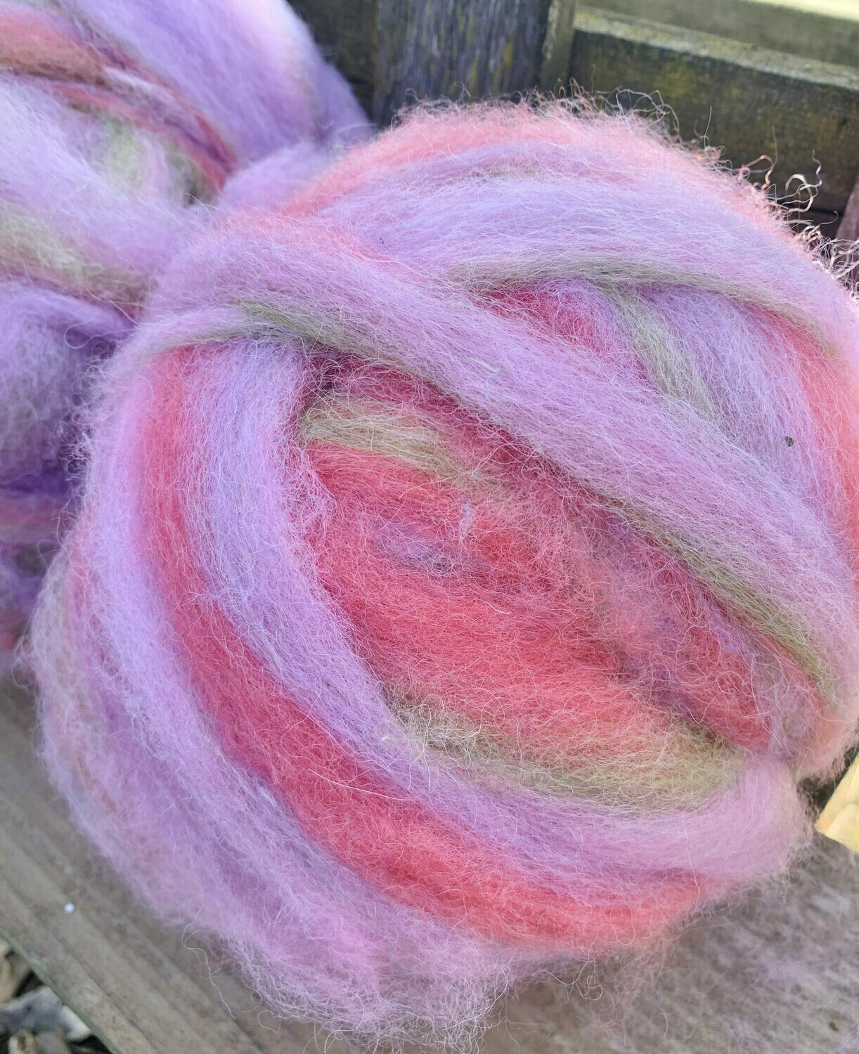 Alpaca Wool Roving -  Tulips