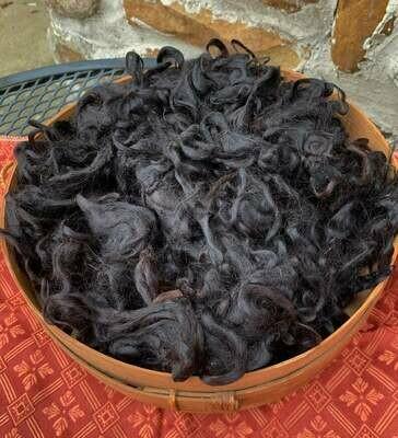Suri Alpaca Fiber, 4.5 Inches, True Black, 2 Ounces,