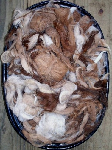 Washed Alpaca Seconds, Natural Colors