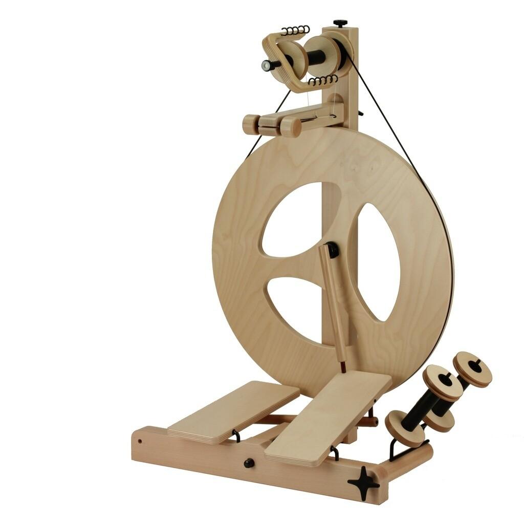 Louet S10 Concept Spinning Wheel - Scotch Tension, Double Treadle, 3 Spoke