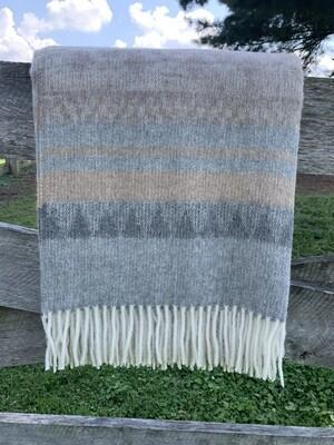 Cherokee Alpaca Throw - Tan/Grey