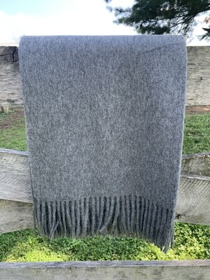 Home Collection Charcoal Alpaca Throw