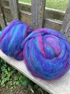 Alpaca Wool Roving - Ocean Gems