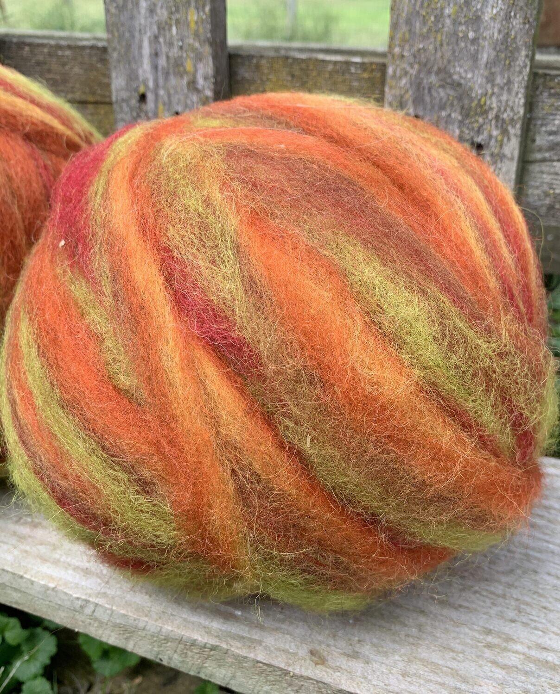 Alpaca Wool Roving - Autumn Splendor