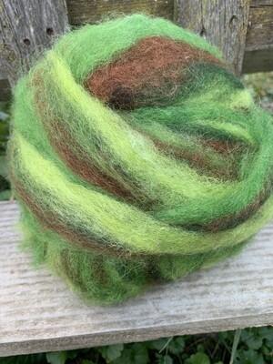 Alpaca Wool Roving - Kiwi