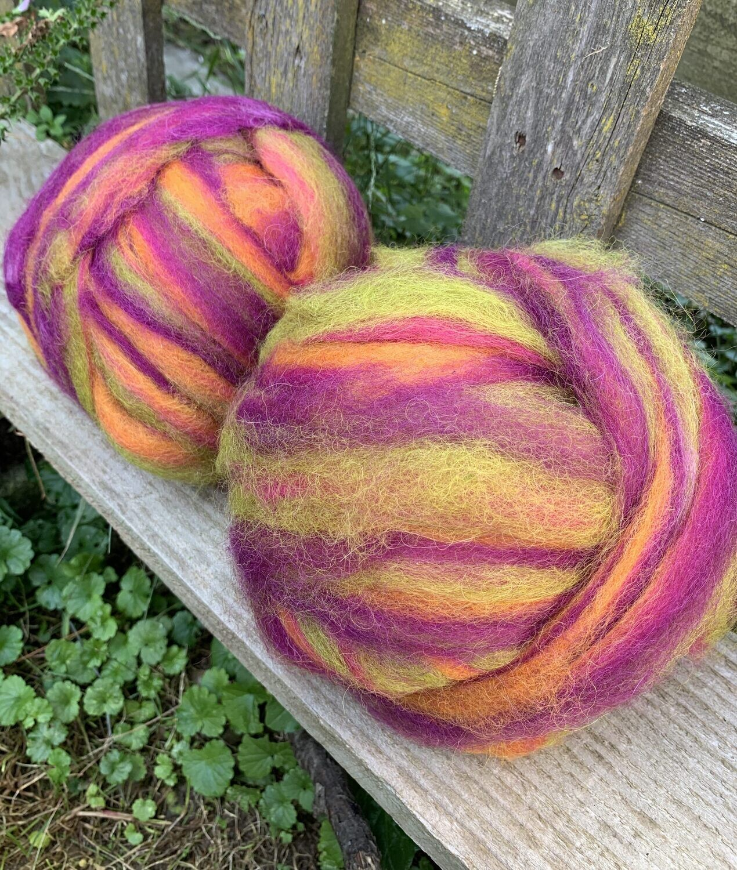 Alpaca Wool Roving - Tuiti Fruiti