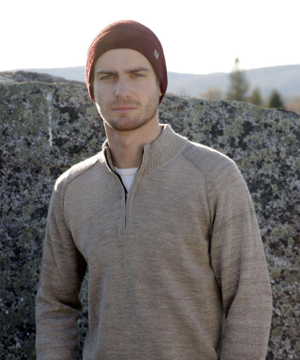 Men's York 1/2 Zip Alpaca Sweater