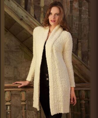 Boucle Alpaca Lounger Coat