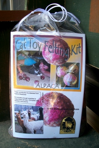 Alpaca Cat Toy Felting Kit