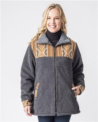 Ladies Alpaca Barn Jacket