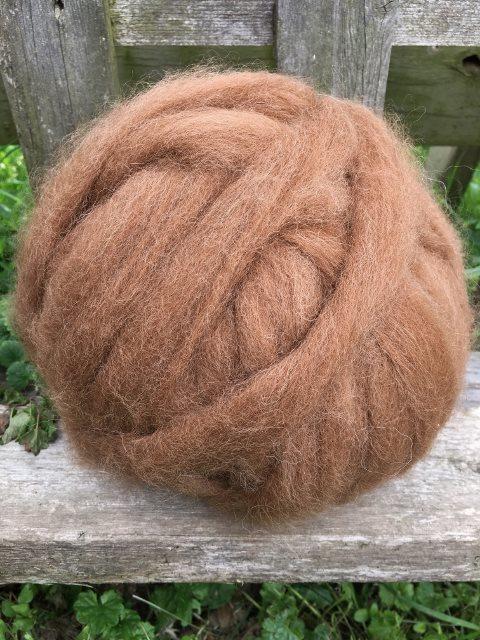 Alpaca Roving - Medium Fawn, Annalise
