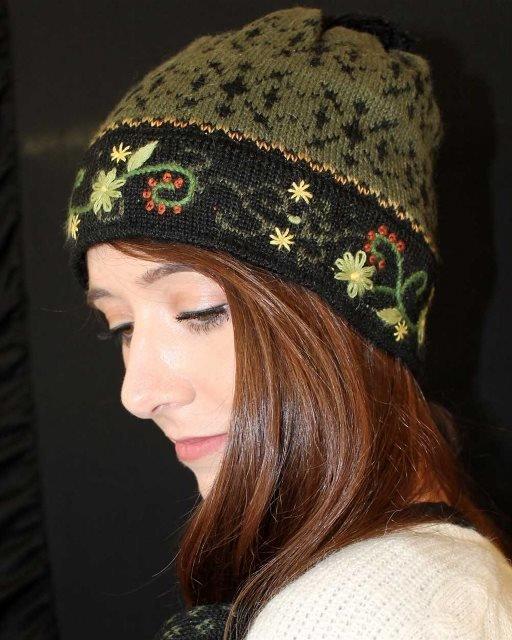 Fern Lined Alpaca Hat