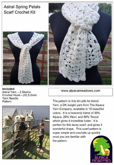 Lacy Scarf Crochet Kit