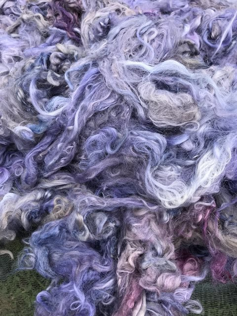 Hand-Dyed Suri Alpaca Fiber, 4.5 Inches, Light Mulberry
