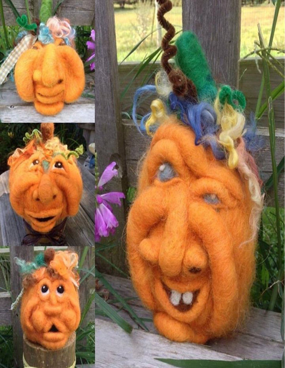 Pumpkin Faces Needle Felting Class