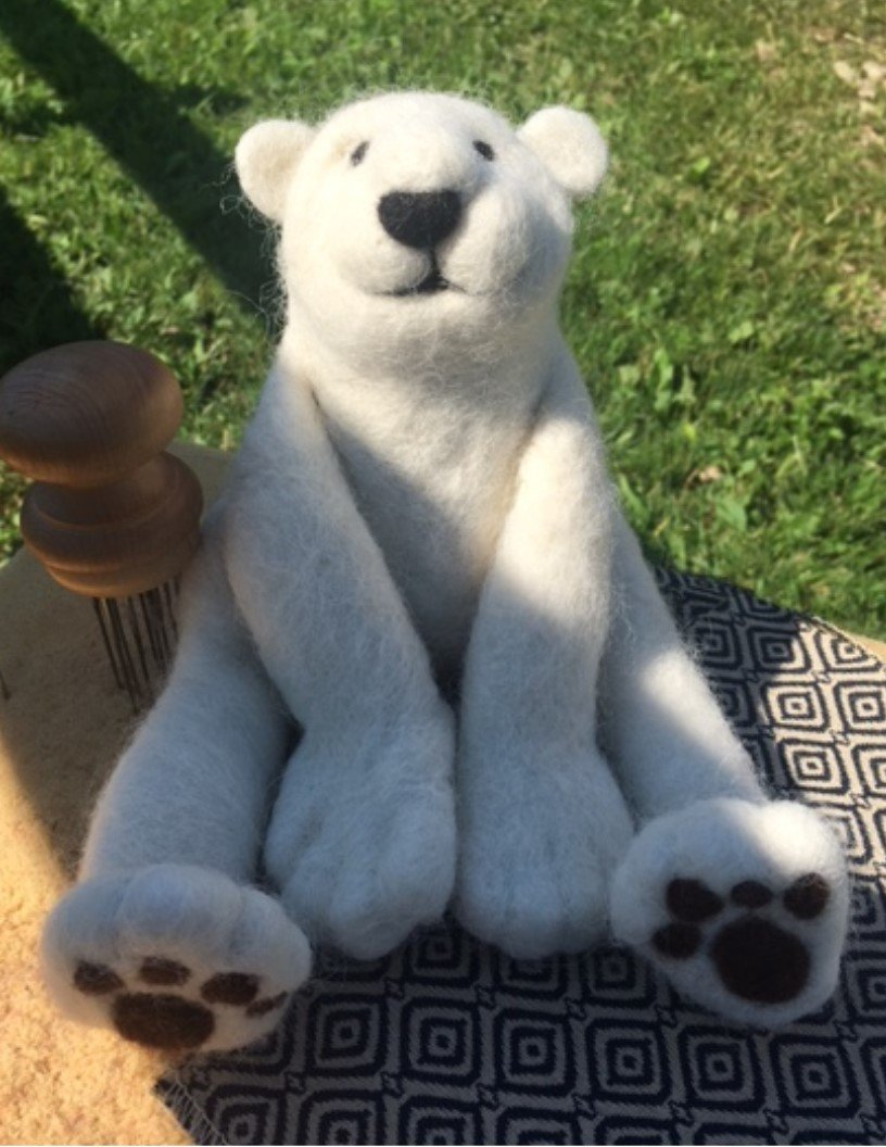 Bear Needle Felting Class
