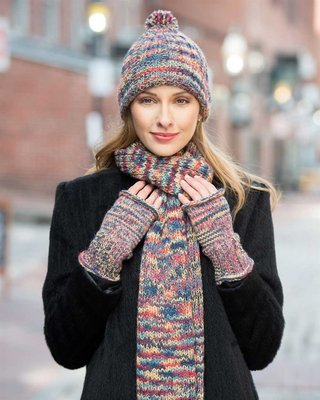 Chunky Pallet Hand Knit Alpaca Hat