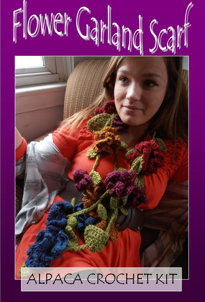 Flower Garland Scarf Crochet Kit