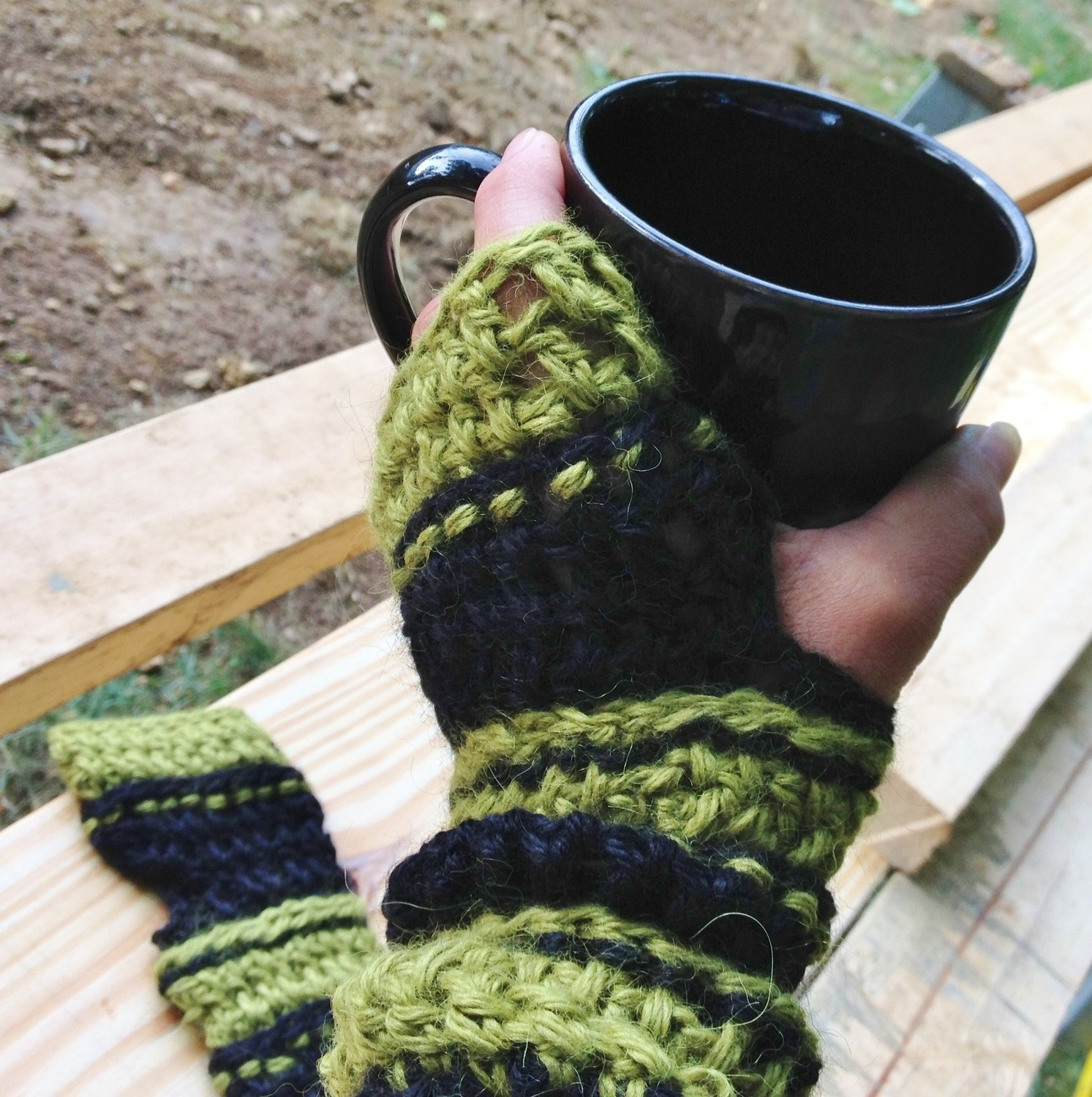 Ridged Arm Warmers - Paca de Seda